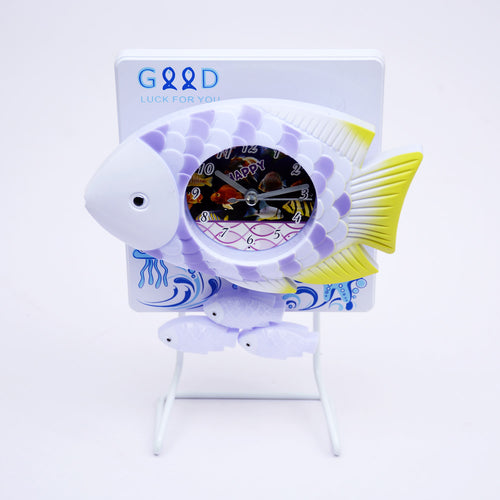 Fish Table Clock With Stand