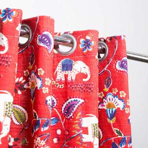Red Forest - Duck Cotton Curtain