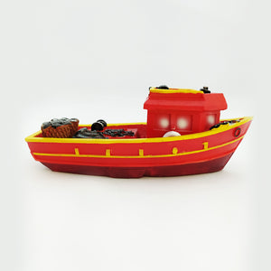 Red Wooden Ship Model Large