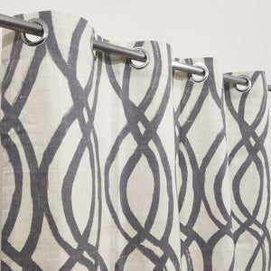 Abstract West Elm Duck Cotton Curtain