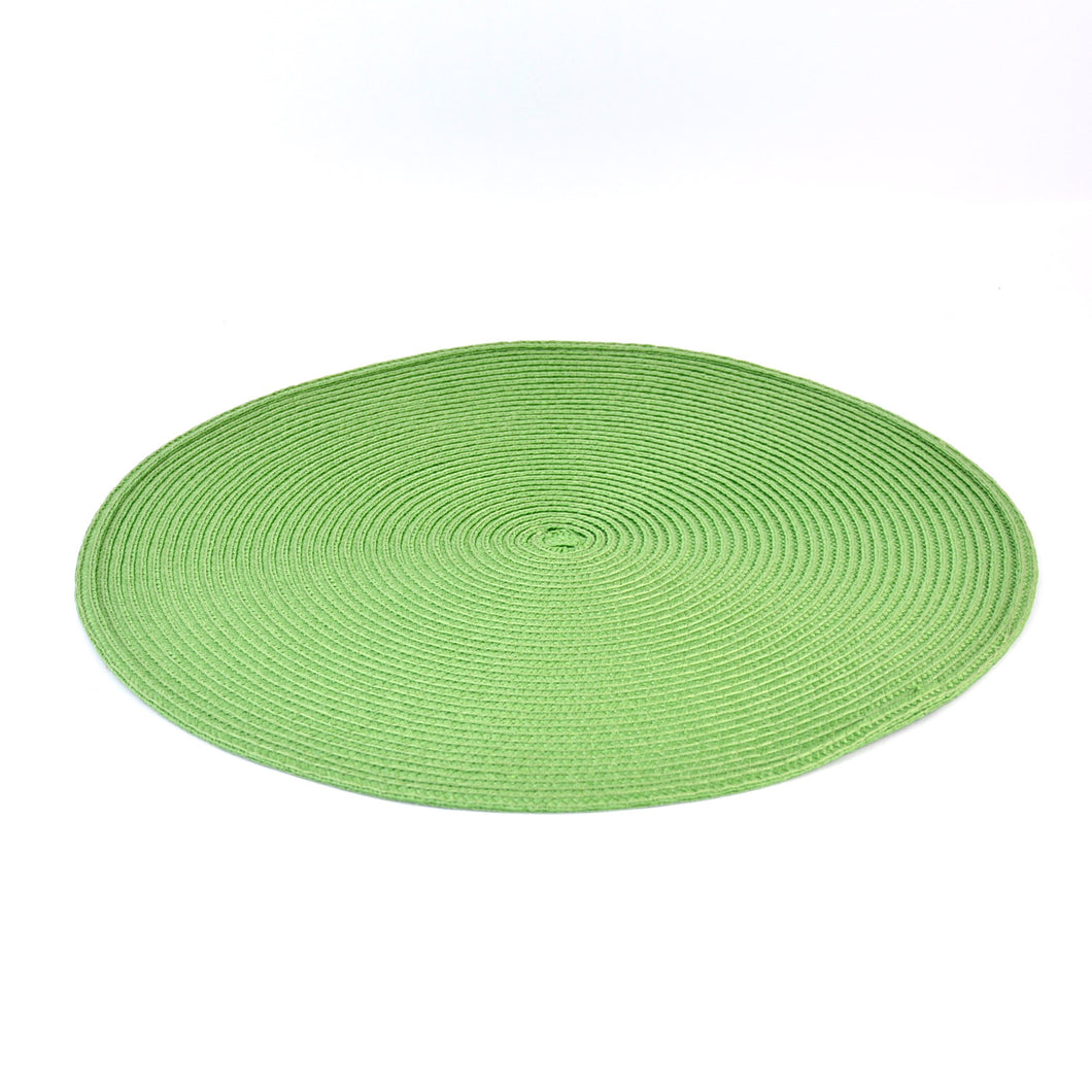 Table Mat Round Parrot Green 15