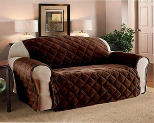 Brown Quilted Sofa Cover - 300 GSM