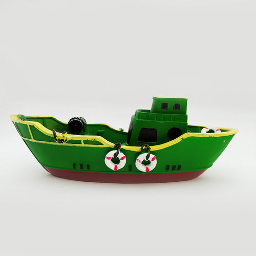 Beautiful Greenish color Wooden Ship Model Large