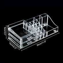 Acrylic Cosmetics Organizer 2 Drawer Make Up Jewelry Storage Large