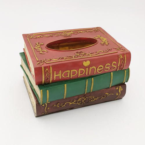 3 Books Tissue Box