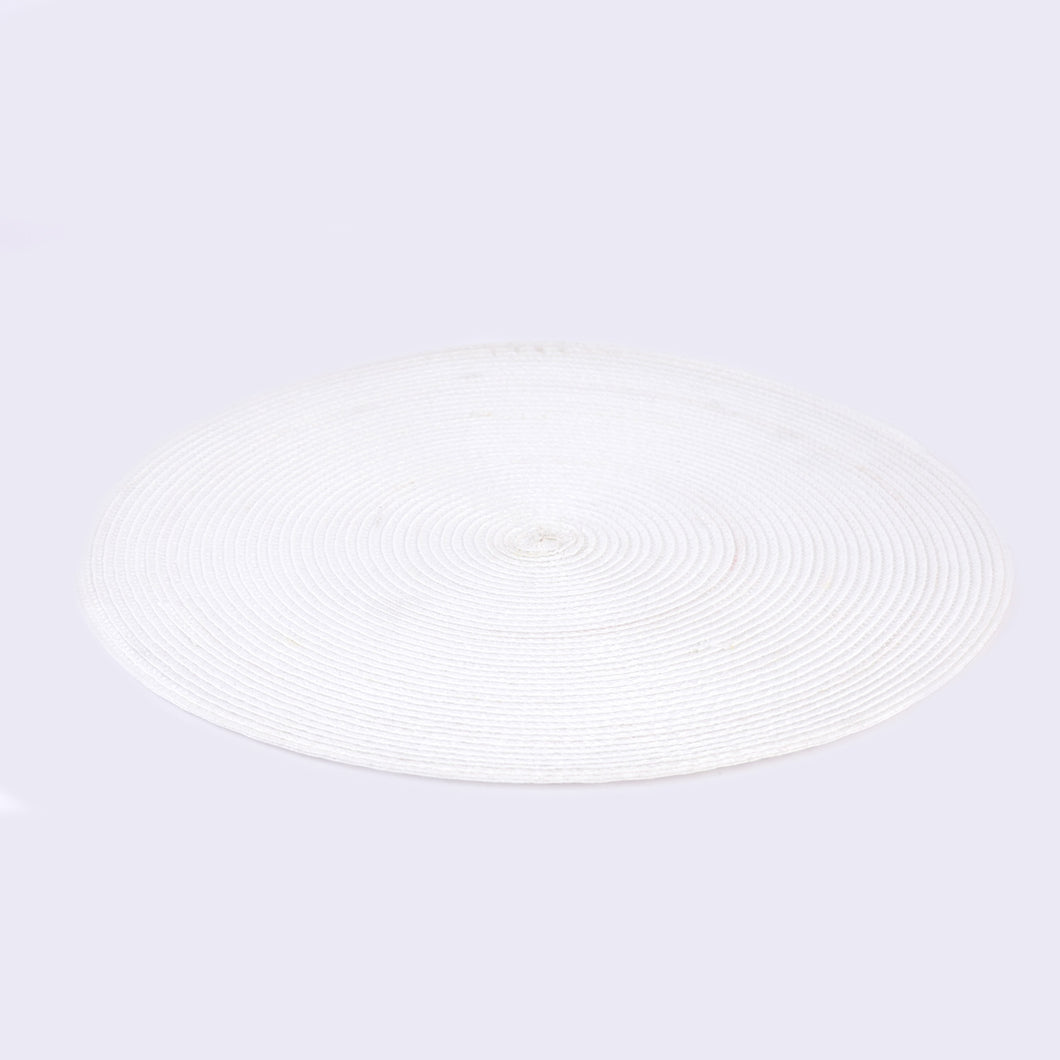 Table Mat Round White 15