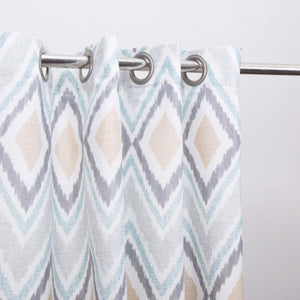 Geometric Design - Duck Cotton Curtain