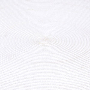 Table Mat Round White 15""