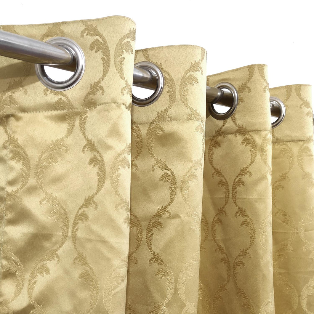 Self Embossed Shanghai Curtain Golden