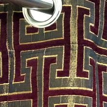 Thick Viscose Curtain Versace Maroon