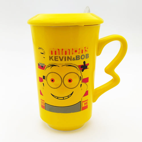 Minion Kevin & BOB Ceramic Mug with Lid  and Spoon