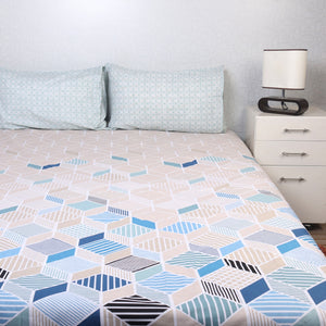 Shapes Percale Cotton Bed Sheet