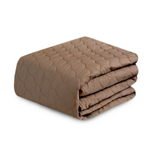 Beige Quilted Sofa Cover