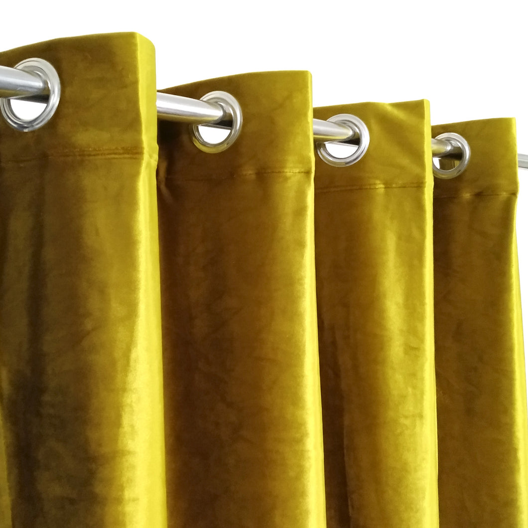 Golden Velvet Plain Curtain