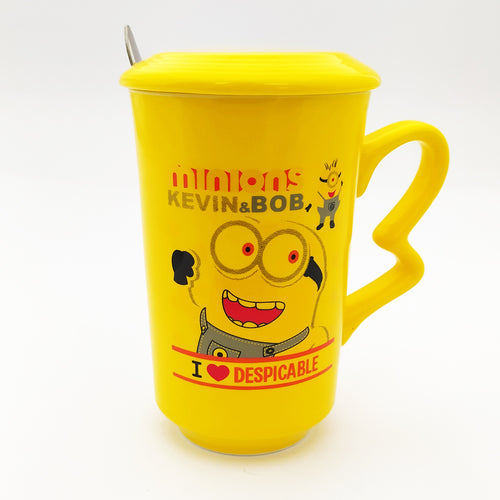 I Love Despicable Ceramic Mug with Lid  and Spoon