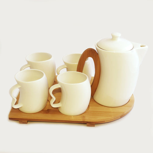 Tea Set With Wooden Base