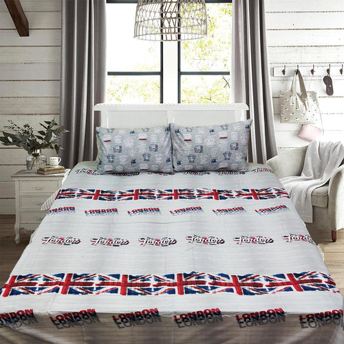London  King Size Bed Sheet With Two Pillow Cases