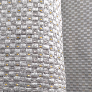 Diamond Emboss Silk Curtain Grey