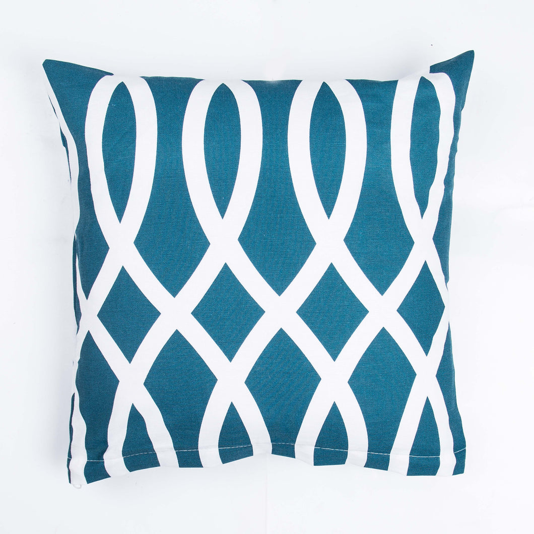 2 PCs Teal Cushion Covers
