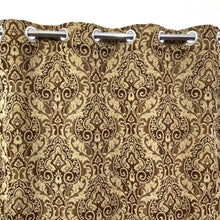 Thick Viscose Curtain Self Brown