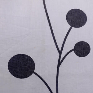 Grey Dot Tree Duck Cotton Curtain