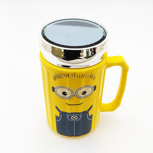 Minion Ceramic Mug with Glass Lid Top