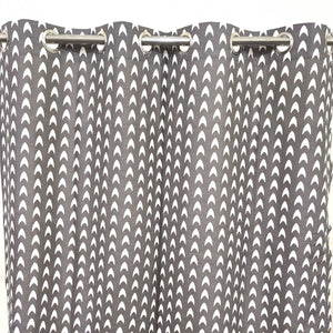Inclination Sign Duck Cotton Curtain