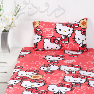 Hello Kitty Kids Bed Sheet With One Pillow Case