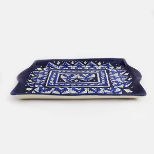 Blue Pottery Tray/Serving Dish