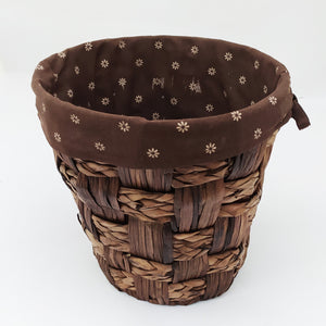 Braided Basket with Fabric Inner
