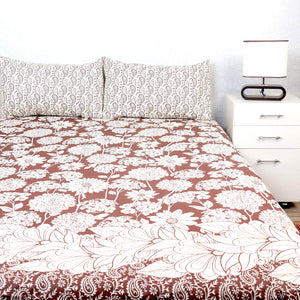 King Size Bed Sheet With Two Pillow Cases