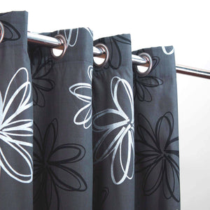 Last 1 Left Extra Discount - Zync Grey Thick - Duck Cotton Curtain Without Lining