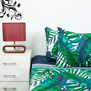 Maple Leaves Bed Sheet With Two Pillow Cases