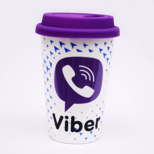Viber Coffee Mug With Lid