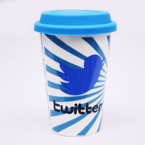 Twitter Coffee Mug With Lid
