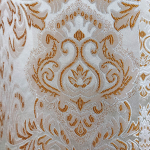 White & Golden Thick Jacquard Curtain