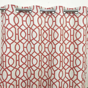Red Motif Duck Cotton Curtain