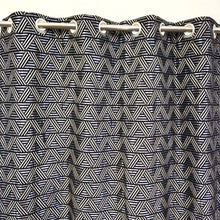 Thick Viscose Curtain Black Geometric
