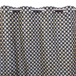 Thick Viscose Curtain Grey & Black