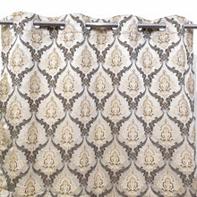 Thick 3D Shanghai Curtain Lite Brown Thread & Golden Color Base