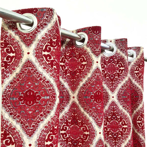 Thick Viscose Curtain Flagon Red