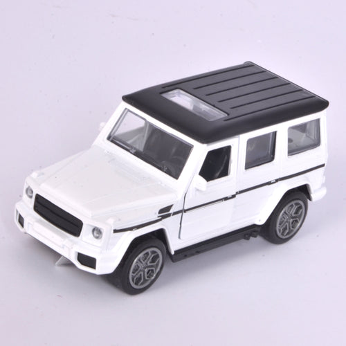 White Jeep Model With Music & Light