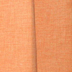 Orange Textured- Duck Cotton Curtain Single Panel
