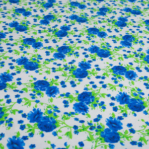 GreeN & Blue Floral King Size Bed Sheet With Two Pillow Cases