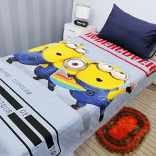Minion Undercover Kids Bed Sheet With One Pillow Cases