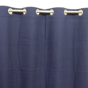 Self Print Navy Blue Duck Cotton Curtain