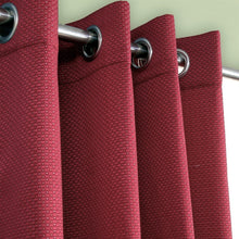 Diamond Emboss Silk Curtain Maroon
