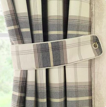 Pair Of Matching Curtain Tie Belts/Backs
