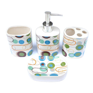 Polka Dots Ceramic Bath set
