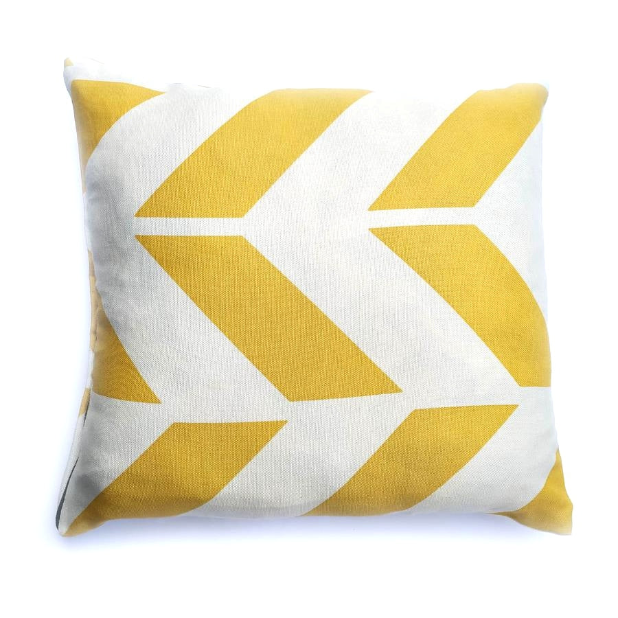 2 PCs Yellow Curtain Match Cushion Covers